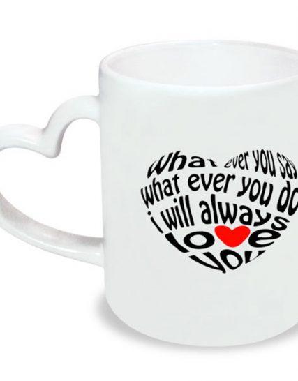 Чаша с дръжка на сърце