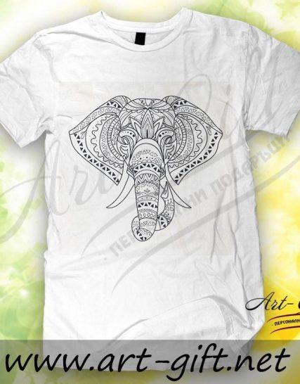 Тениска с щампа - Слон