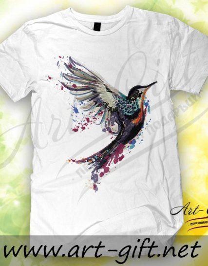 Тениска с щампа - Птица