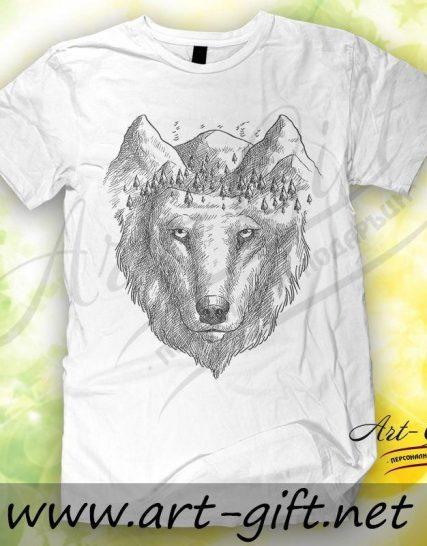 Тениска с щампа - Вълк 4