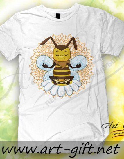 Тениска с щампа - Пчела