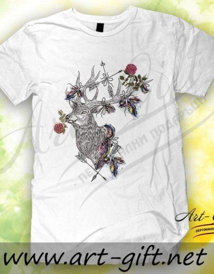 Тениска с щампа - Елен