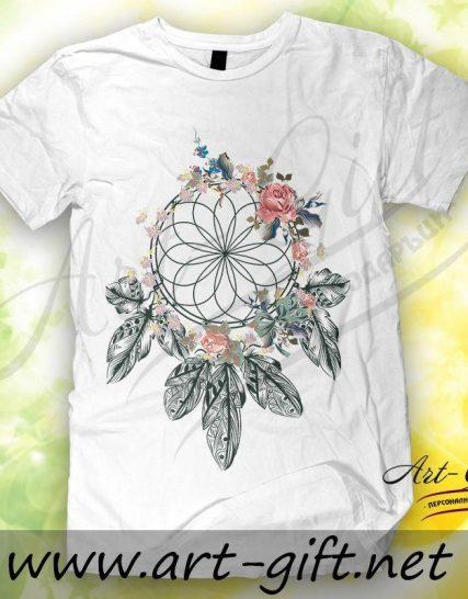 Тениска с щампа - Ловец на сънища 1