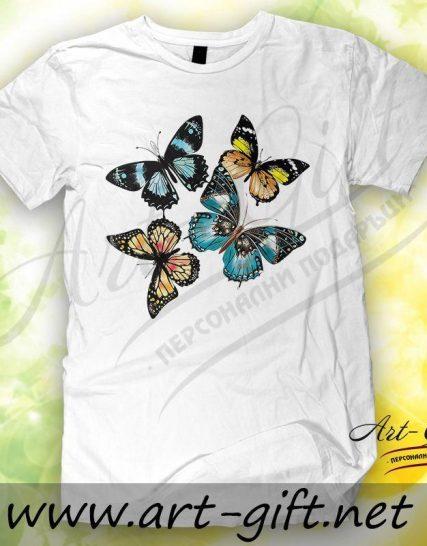 Тениска с щампа - Пеперуди