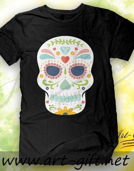 Тениска с щампа - Череп 1