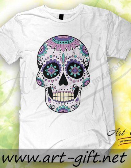 Тениска с щампа - Череп 3