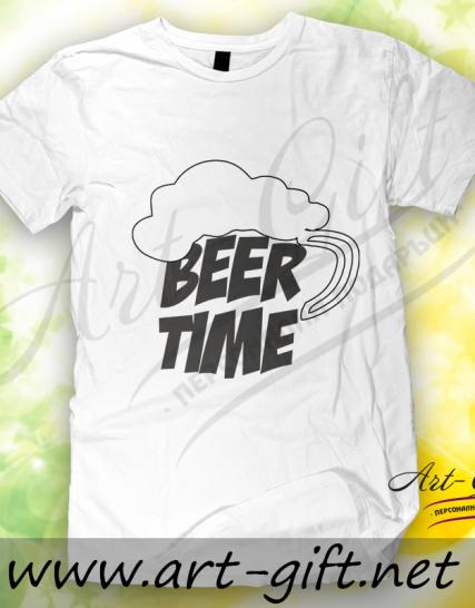 Тениска с щампа Beer time 2