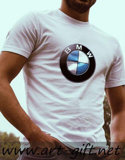 Тениска с щампа -BMW