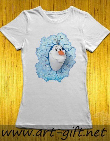 Тениска с щампа - Олаф