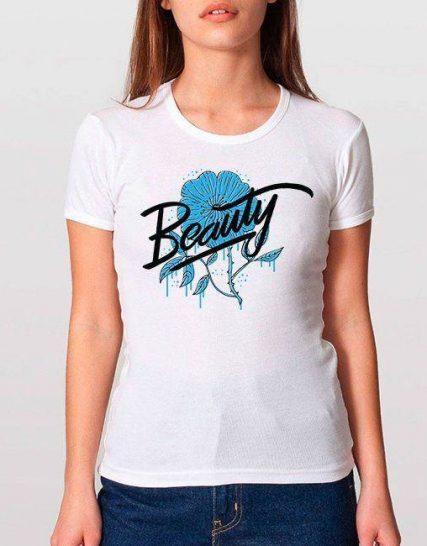 Тениска с щампа - Beauty