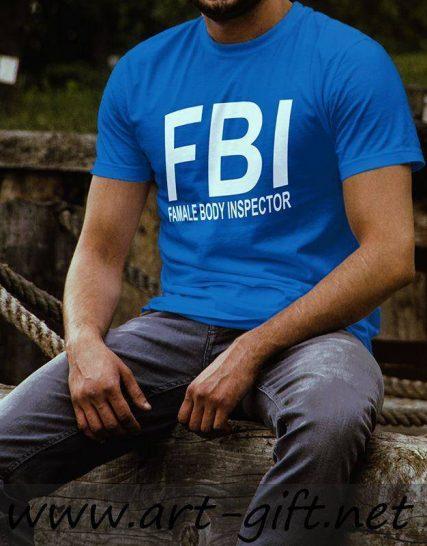 Тениска с щампа - Famale body inspector