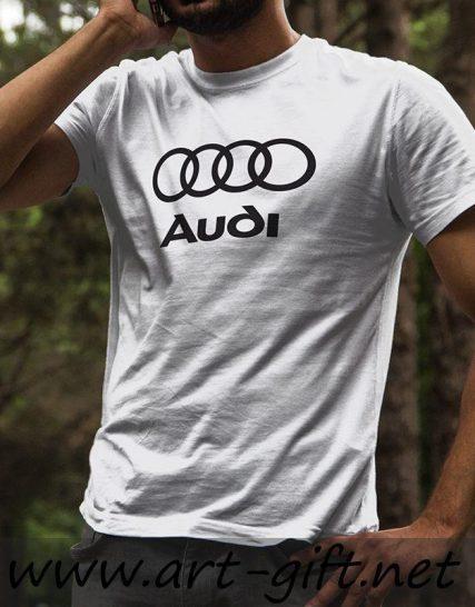 Тениска с щампа - Audi