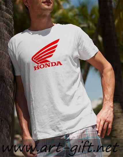 Тениска с щампа - Honda