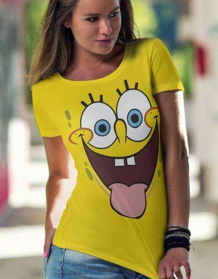 Тениска с щампа - Sponge Bob 2