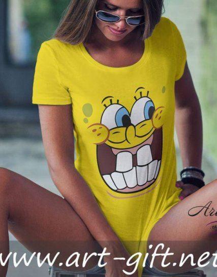 Тениска с щампа - Sponge Bob 3