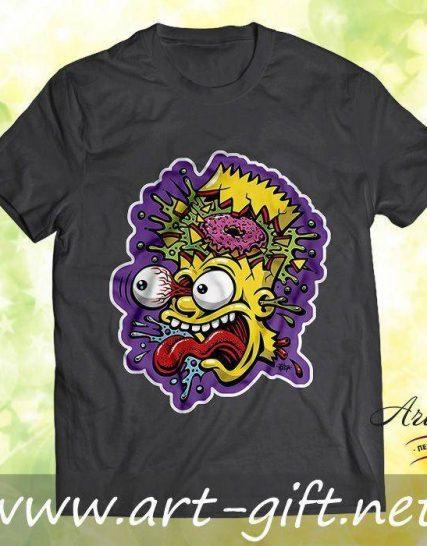 Тениска с щампа - Bart Simpson