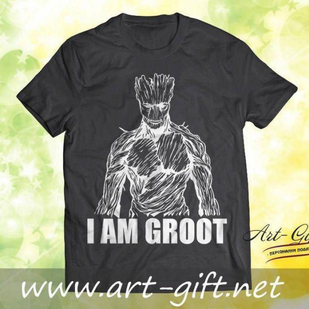 Тениска с щампа - I am Groot 3