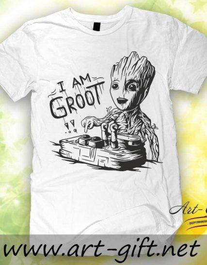 Тениска с щампа - I am Groot 2