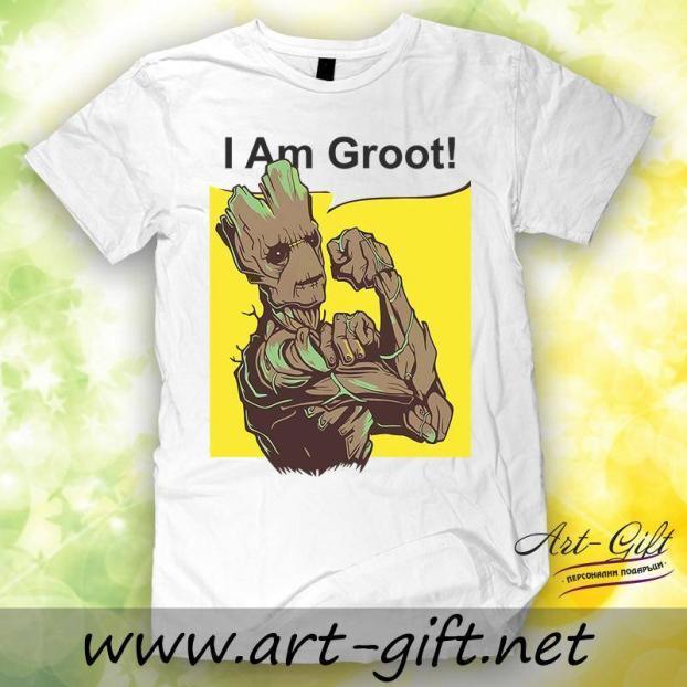 Тениска с щампа - I am Groot 1
