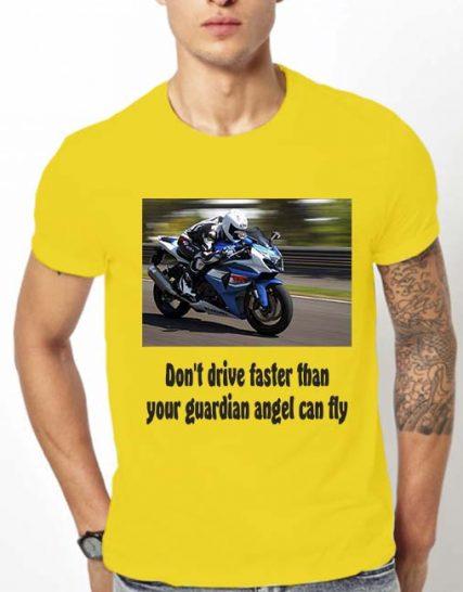 Тениска с щампа - Don't drive faster