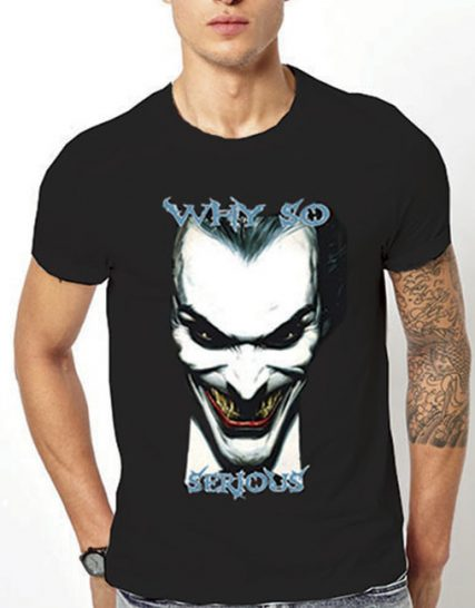 Тениска с щампа - Why so serious ?
