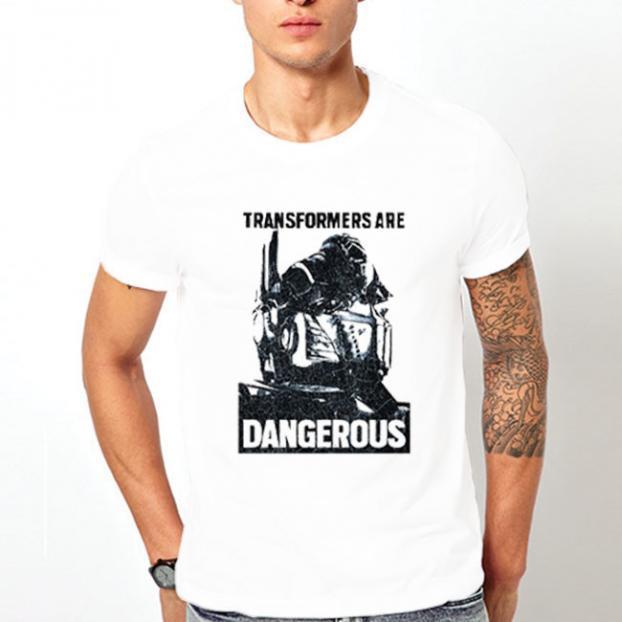 Тениска с щампа - Transformers are Dangerous