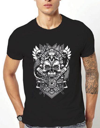 Тениска с щампа - Skull