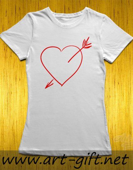 Тениска с щампа - Сърце
