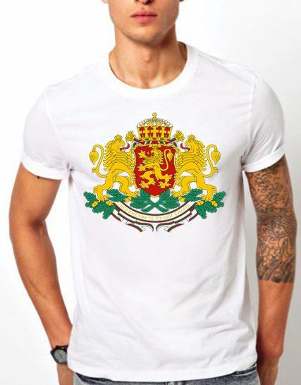 Тениска с щампа - Герб на България