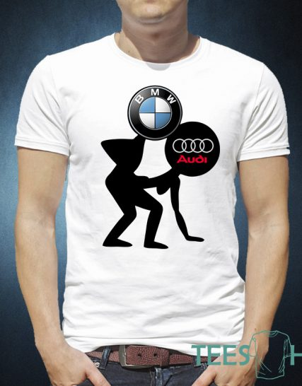 Тениска с щампа - BMW and Audi
