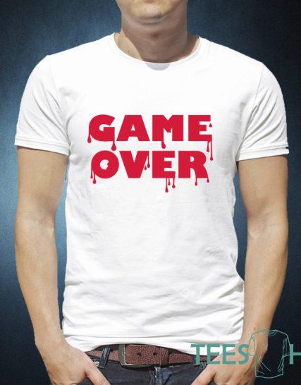 Тениска с щампа - Game over