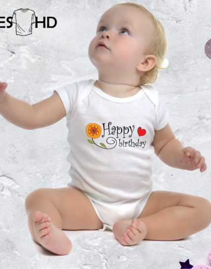 Боди - Happy Birthday Бодитата са изработени от 100% памук меки на допир.