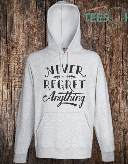Суитчер с щампа - Never regret anything