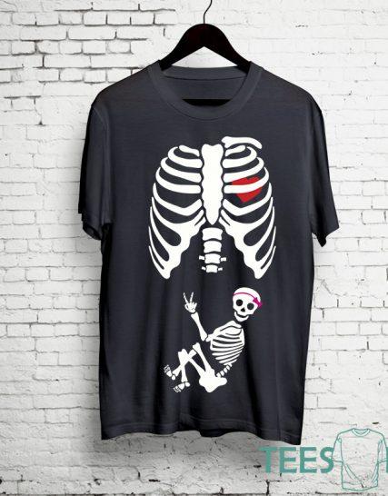 Тениска с щампа - Скелет