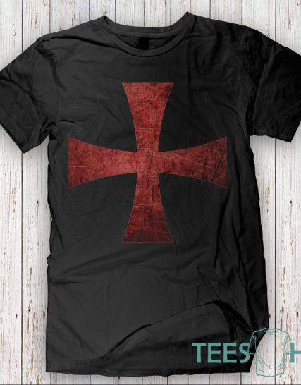 Тениска с щампа - Тамплиер