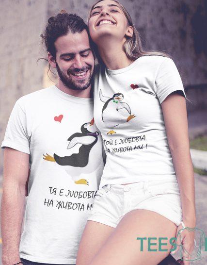 Комплект тениски - Пингвини