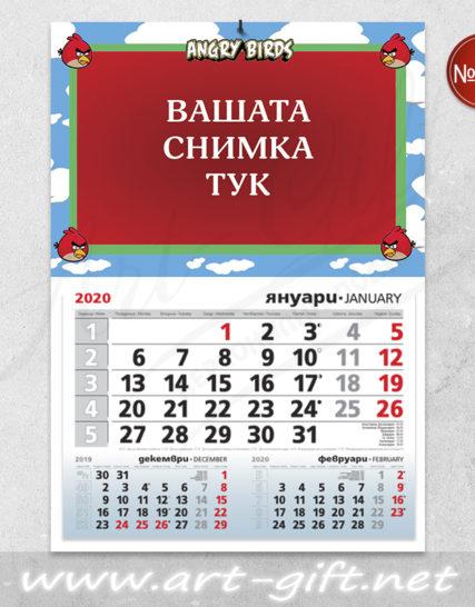 Детски календар с ваша снимка - Angry Birds 3