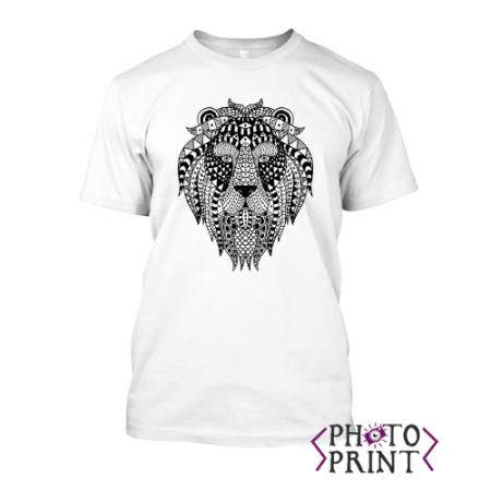 Тениска с печат – Лъв арт